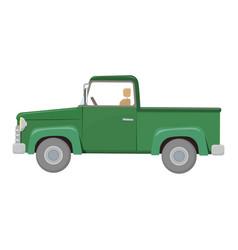 Green pick-up truck vector