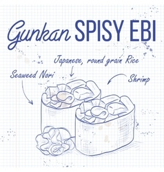 Gunkan Spicy Ebi vector