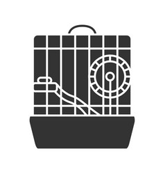 hamster cage glyph icon vector image