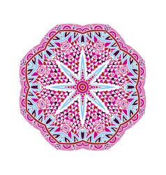 hand drawn doodle mandala isolated vector image