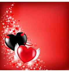 Heart valentines background vector
