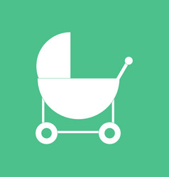 Icon baby carriage silhouette vector