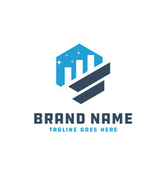 Investment marketing graphic logo vector