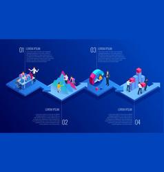 Isometric presentation business infographics vector