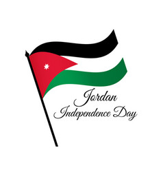 Jordan independence day jordan flag celebration vector