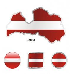 latvia vector image