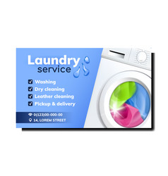 laundry service advertise promo banner vector image