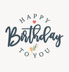 Letter happy birthday vector