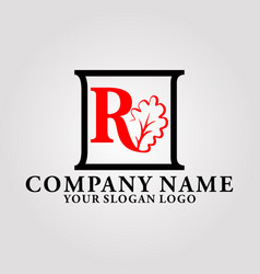 logo oak luxury letter r vector image