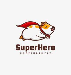 logo super hero simple mascot style vector image