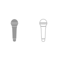 microphone it is black icon vector image
