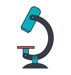 Mircroscope science tool icon vector