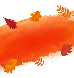 orange blot and autumn leaves vector image