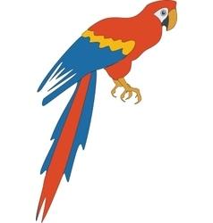 Parrot color 03 vector image