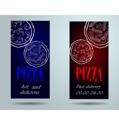 pizza food menu cafe brochure vector image