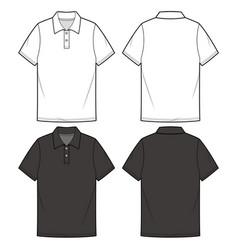 Polo shirts fashion flat sketch template vector