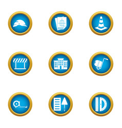 Remedial maintenance icons set flat style vector