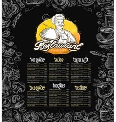 Restaurant brochure menu cafe template vector