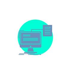 Resume storage print cv document glyph icon vector