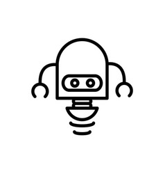 robot science fiction technology artificial vector image