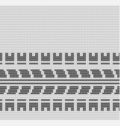 seamless gray tire track knitting vector image