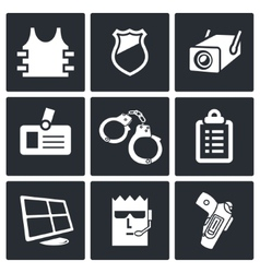 Security icon collection vector image