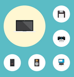 set of computer icons flat style symbols with vector image
