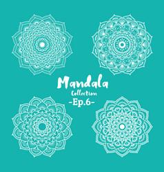 set of mandala decorative and ornamental vector image