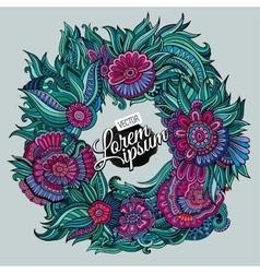 summer wreath card vector image