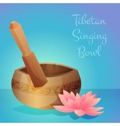Tibetan singing bowl vector