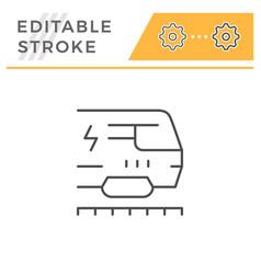 train line icon vector image