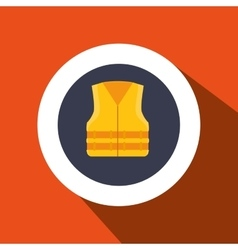 vest protection industrail icon vector image