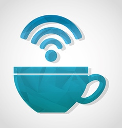 wifi connection vector image
