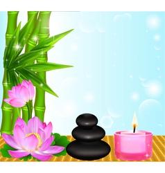 background Spa flower vector image