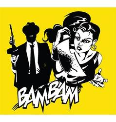Cartoon criminals vector image vector image