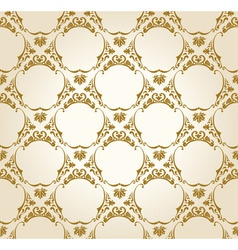 seamless wallpaper background vintage gold vector image vector image