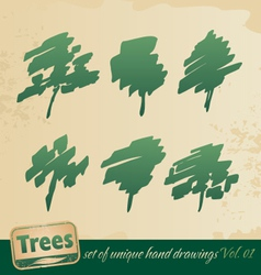 trees vector image vector image