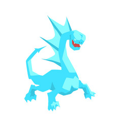 turquoise dragon mythical and fantastic animal vector image