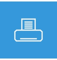 White fax icon on blue background vector image