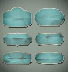Blue Crumpled Frames vector image