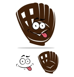Cute cartoon baseball glove vector image