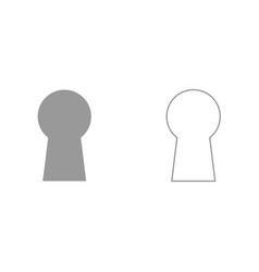 keyhole it is black icon vector image