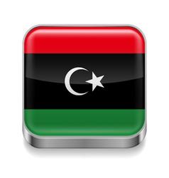 Metal icon of libya vector