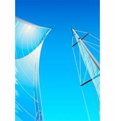 sailing rig vector image vector image