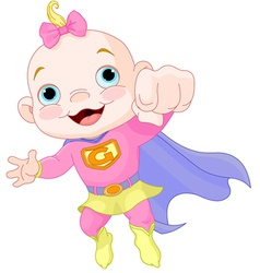 Super Baby Girl vector image vector image