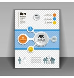 template booklet with elements of infographics vector image vector image