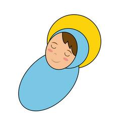 baby jesus cartoon vector image vector image