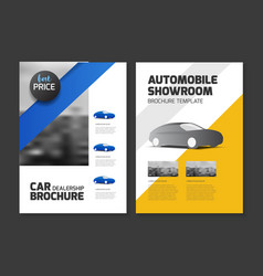 Car dealership brochure automobile showroom vector