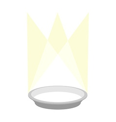 Empty plate podium with lighting Place for a vector image vector image