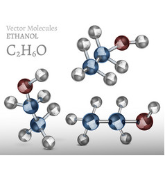ethanol molecule image vector image